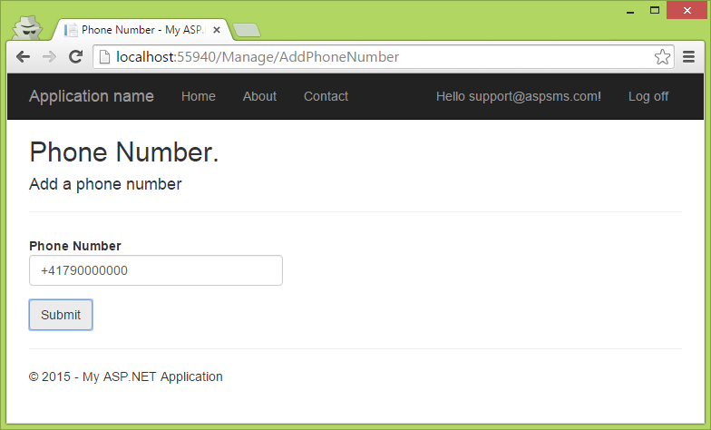 How to add dashes to phone number in mvc
