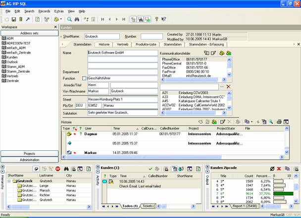 aspsms     solutions   3rd party   crm  und callcenter