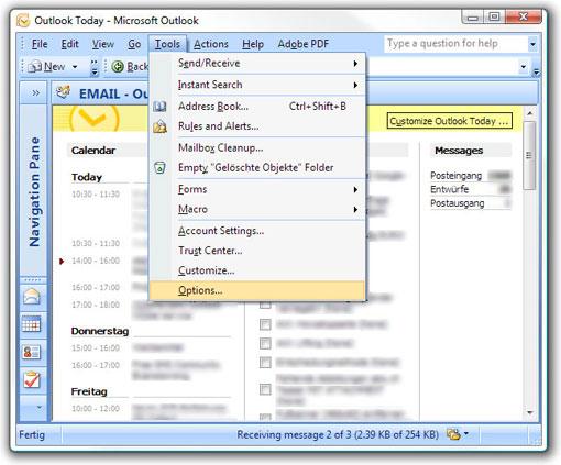 Aspsmscom Microsoft Office Outlook 2007 Outlook Mobile Service