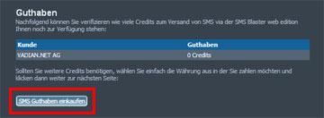 SMSBLASTER web edition - Guthaben