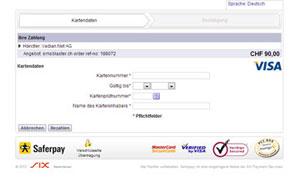 SMSBLASTER web edition - Kreditkarte