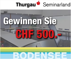 Thurgau Seminarland: Gewinnen Sie CHF 500.00 für eine Tagung im Seminarland Thurgau. Lesen Sie hier weiter ...